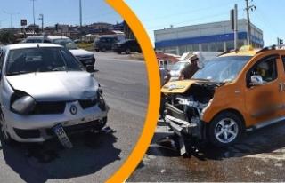Tofak Kavşağı'nda Trafik Kazası; 2 Yaralı