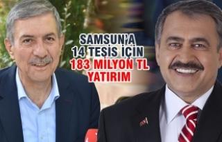 2 Bakan; 43 Milyon TL'lık 19 Müjde İle Samsun'a...