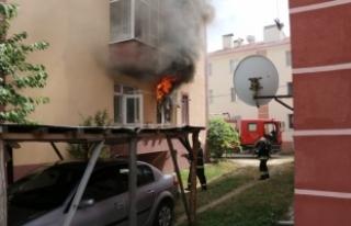Patlayan buzdolabı yangına neden oldu