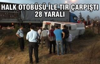 Samsun'da Halk Otobüsü İle Tır Çarpıştı:...