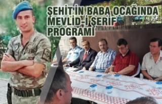 Şehit Şahan Sezer İçin Mevlid-i Şerif Programı...