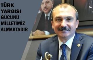 """Milletvekili Kırcalı; """"Türk Yargısı Gücünü..."""