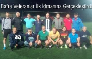 Bafra Veteranlar Spor Kulübü; İlk İdmanına Gerçekleştirdi