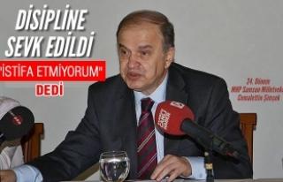 """Disipline Sevk Edilen Şimşek, MHP'den """"İstifa..."""