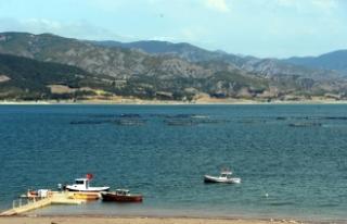 Almus Baraj Gölü kanocuların gözde yeri olacak