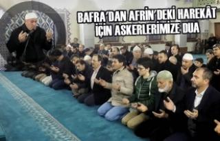 Bafra'dan Afrin'deki Harekât İçin Askerlerimize...