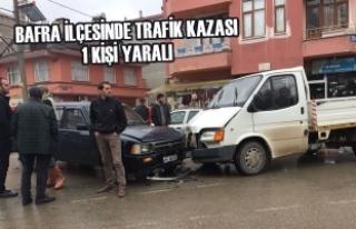 Bafra İlçesinde Trafik Kazası: 1 Yaralı