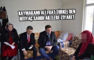 Kaymakamı Ali Fuat Türkel'den İhtiyaç Sahibi...