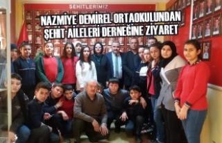 Nazmiye Demirel Ortaokulundan Şehit Aileleri Derneğine...
