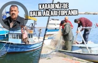 Karadeniz'de Balık Ağları Toplandı