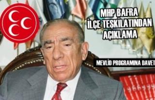 MHP Bafra Teşkilatından Açıklama
