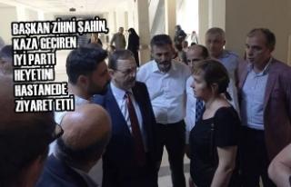 Başkan Şahin, Kaza Geçiren İyi Parti Heyetini...