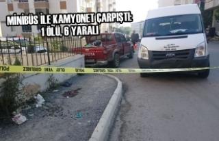 Minibüs İle Kamyonet Çarpıştı: 1 Ölü, 6 Yaralı