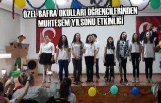 Özel Bafra Okulları Öğrencilerinden Yılsonu Etkinliği
