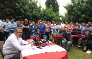 Samsunspor'da İsmail Uyanık başkan adaylığını...