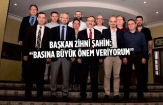 19 Mayıs Gazeteciler Cemiyeti Yönetimi Başkan Şahin'i...