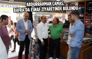 Abdurrahman Çamaş, Bafra'da Esnaf Ziyaretinde...