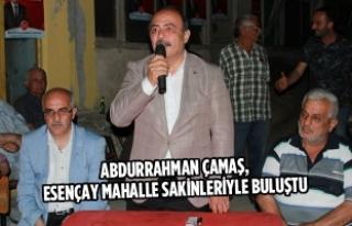 Abdurrahman Çamaş, Esençay Mahalle Sakinleriyle...