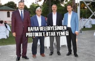 Bafra Belediyesinden Protokol'e İftar Yemeği
