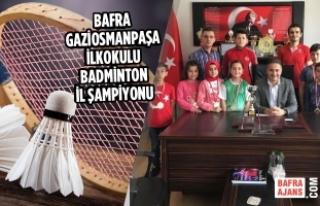 Bafra Gaziosmanpaşa İlkokulu Badminton İl Şampiyonu