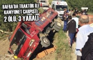 Bafra İlçesi Uluağaç Köyü'nde Feci Kaza: 2...