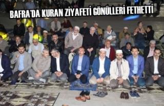 Bafra'da Kuran Ziyafeti Gönülleri Fethetti