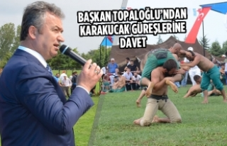 Başkan Topaloğlu'ndan Karakucak Güreşlerine...
