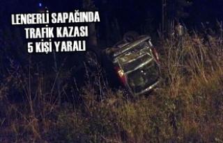 Lengerli Sapağında Trafik Kazası 5 Kişi Yaralı