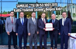 "SAMULAŞ ""TSE EN ISO 9001:2015 Kalite Yönetim..."