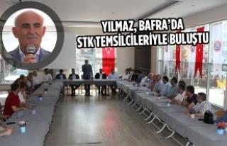 Yılmaz, Bafra'da STK Temsilcileriyle Buluştu