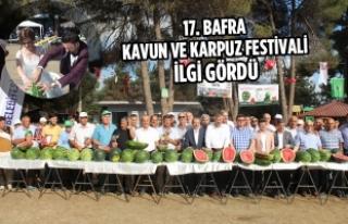 17. Bafra Kavun Ve Karpuz Festivali İlgi Gördü