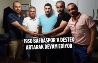 1930 Bafraspor'a Destek Artarak Devam Ediyor
