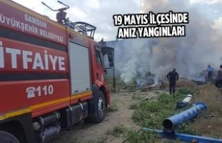19 Mayıs İlçesinde Anız Yangınları
