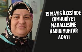 19 Mayıs İlçesinde Cumhuriyet Mahallesine Kadın...