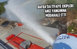 Bafra'da İtfaiye Ekipleri Anız Yangınına Müdahale...