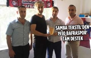 Samba Tekstil'den 1930 Bafraspor'a Tam Destek