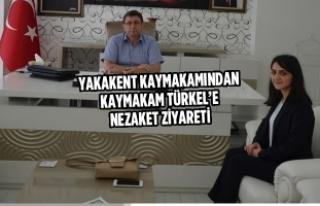Yakakent Kaymakamından Kaymakam Türkel'e Nezaket...