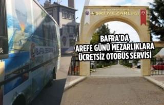 Arefe Günü Mezarlıklara Ücretsiz Otobüs Servisi