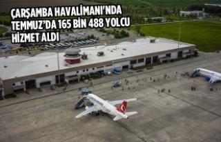 Çarşamba Havalimanı'nda Temmuz'da 165 Bin...