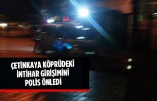 Çetinkaya Köprüsündeki İntihar Girişimini Polis...