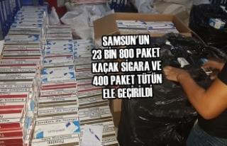 23 Bin 800 Paket Kaçak Sigara ve 400 Paket Tütün...
