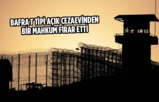 Bafra T Tipi Açık Cezaevinden Firar