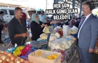 Başkan Osman Topaloğlu Pazar Esnafını Ziyaret...
