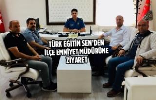 Türk Eğitim Sen'den Bafra İlçe Emniyet Müdürüne...