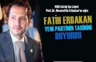 Fatih Erbakan Yeni Partinin Tarihini Duyurdu