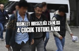Samsun'da Bisiklet Hırsızlığı Zanlıları...