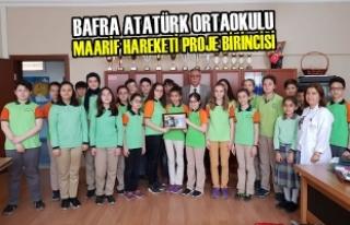 Bafra Atatürk Ortaokulu Maarif Hareketi Proje Birincisi