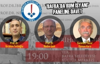 """""""Bafra'da Rum İsyanı"""" Paneline Davet"""