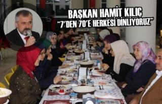 """Başkan Kılıç: """"7'den 70'e Herkesi..."""