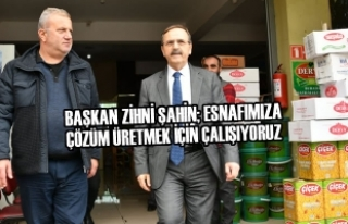 Başkan Zihni Şahin Gıda Borsası Esnafını Ziyaret...